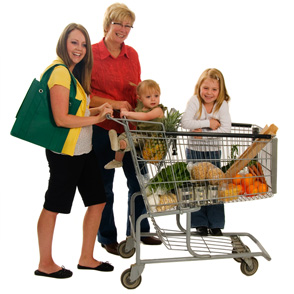 Grocery Shopping Family