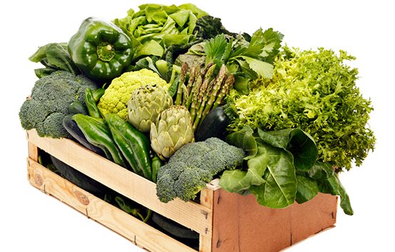 Box Of Green Vegetables