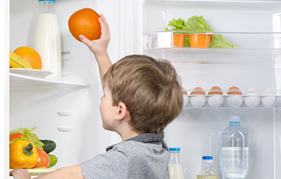 Boy Kid Healthy Food Refrigerator