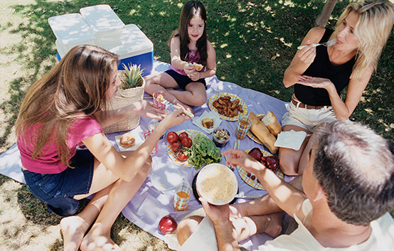 Keeping food safe during outdoor play