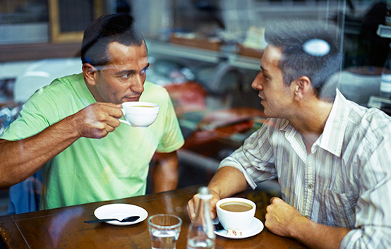 Men Having Coffee