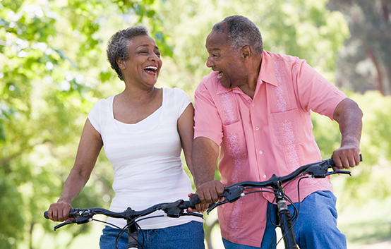 Senior Couple Bike Ride