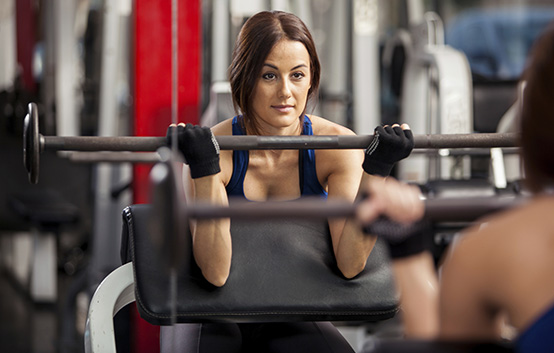 Woman Barbell Gym Weight