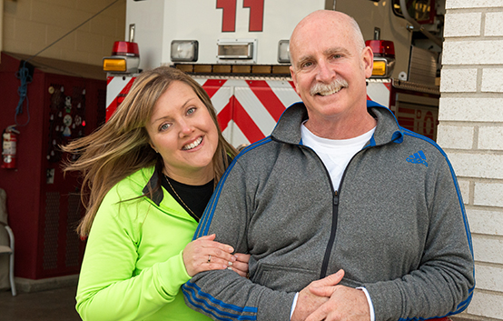 Fighting to save a firefighter