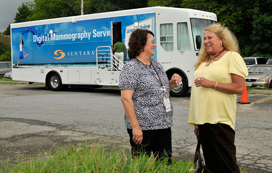 Mammography van brings peace of mind